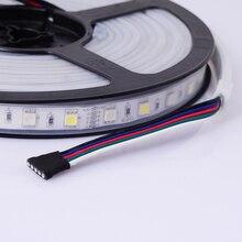 5 M DC12V 60 Светодиодный/M 5050 RGBW/RGBWW RGB+ теплый белый свет/холодный трубка из белого силикона IP67 Водонепроницаемый Светодиодные ленты свет