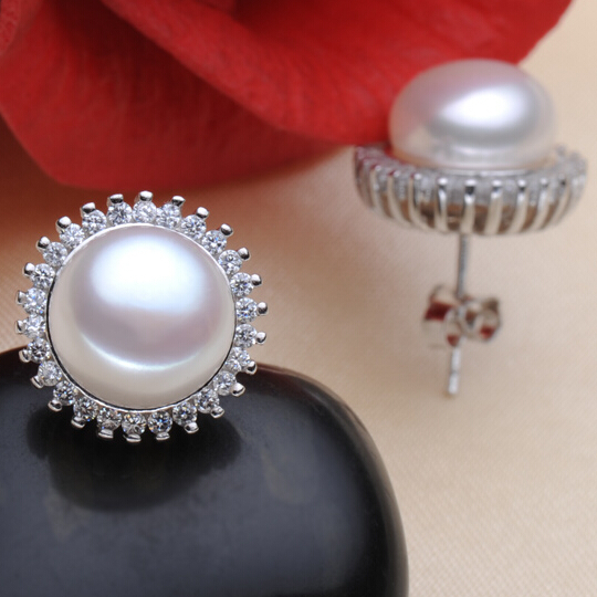 ZHBORUINI modni biseri uhani biser za ženske klasična Audrey - Lep nakit - Fotografija 4