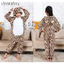 Немного неровный хлопковая Детская Пижама животного пижамы leopard Медведь  свинья тигр Спящий ребенок белье для детей f7fc0e25306a1