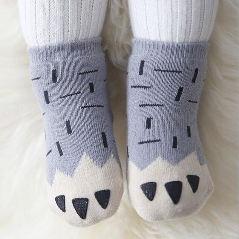 Free Shipping 2021 Winter Thick New Born Girls Boys Baby Socks Cotton Casual Meias Infantil Anti Slip Terry Socks Soft 1