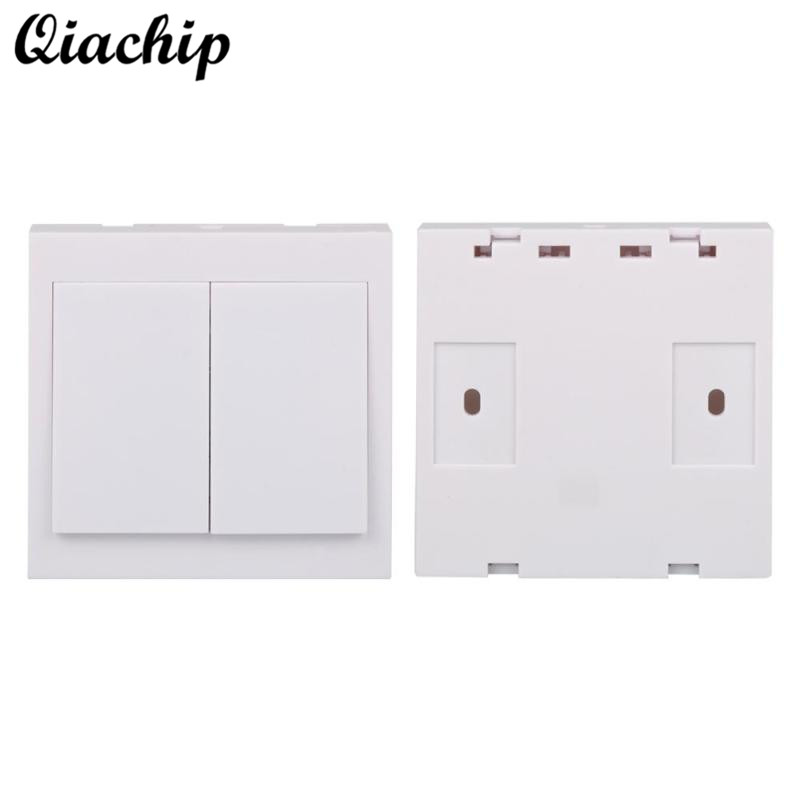 86 Wall 433mhz 2 CH Button Wireless Power Remote Control Switch Transmitter Relay Receiver EV1527 Smart Home Lamp Light LED Bulb ac 180 240v double key wall switch remote control 10a relay smart home ceiling lamp light led bulb remote control switch