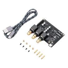 Тональная плата Khadas Внешняя звуковая карта Hi-Fi с интерфейсом USB ES9038Q2M Аудиоплата Hi-Res