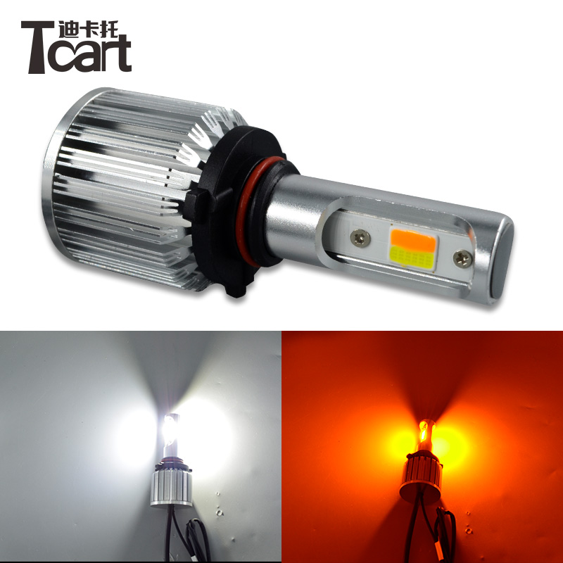 Tcart led fog lights car <font><b>accessories</b></font> for <font><b>toyota</b></font> land cruiser <font><b>prado</b></font> 150 2014 2015 <font><b>2016</b></font> 2017 H8 H9 H11 white with yellow car lamps image