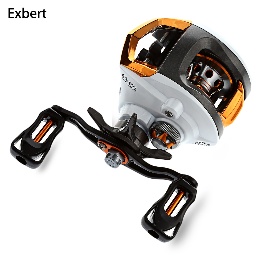 Exbert 12 + 1 Cuscinetti Impermeabile Sinistra/Destra Baitcasting Reel Fishing High Speed Reel Fishing con Freno Magnetico sistema