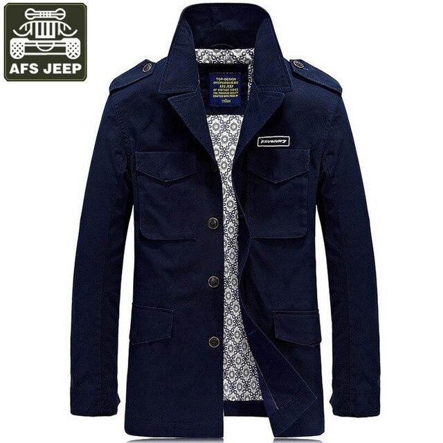 94f868f51be9c AFS JEEP marka kurtka zimowa mężczyźni na co dzień moda solidny wykop kurtki  męskie płaszcze stanąć