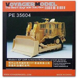 KNL HOBBY Voyager modèle PE35604 D9R armure bulldozer et armure de clôture supplémentaire mise à niveau des pièces de gravure en métal