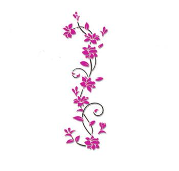 3D flower Wall Stickers for kids rooms decals Living Room Bedroom TV Background Home decor 7