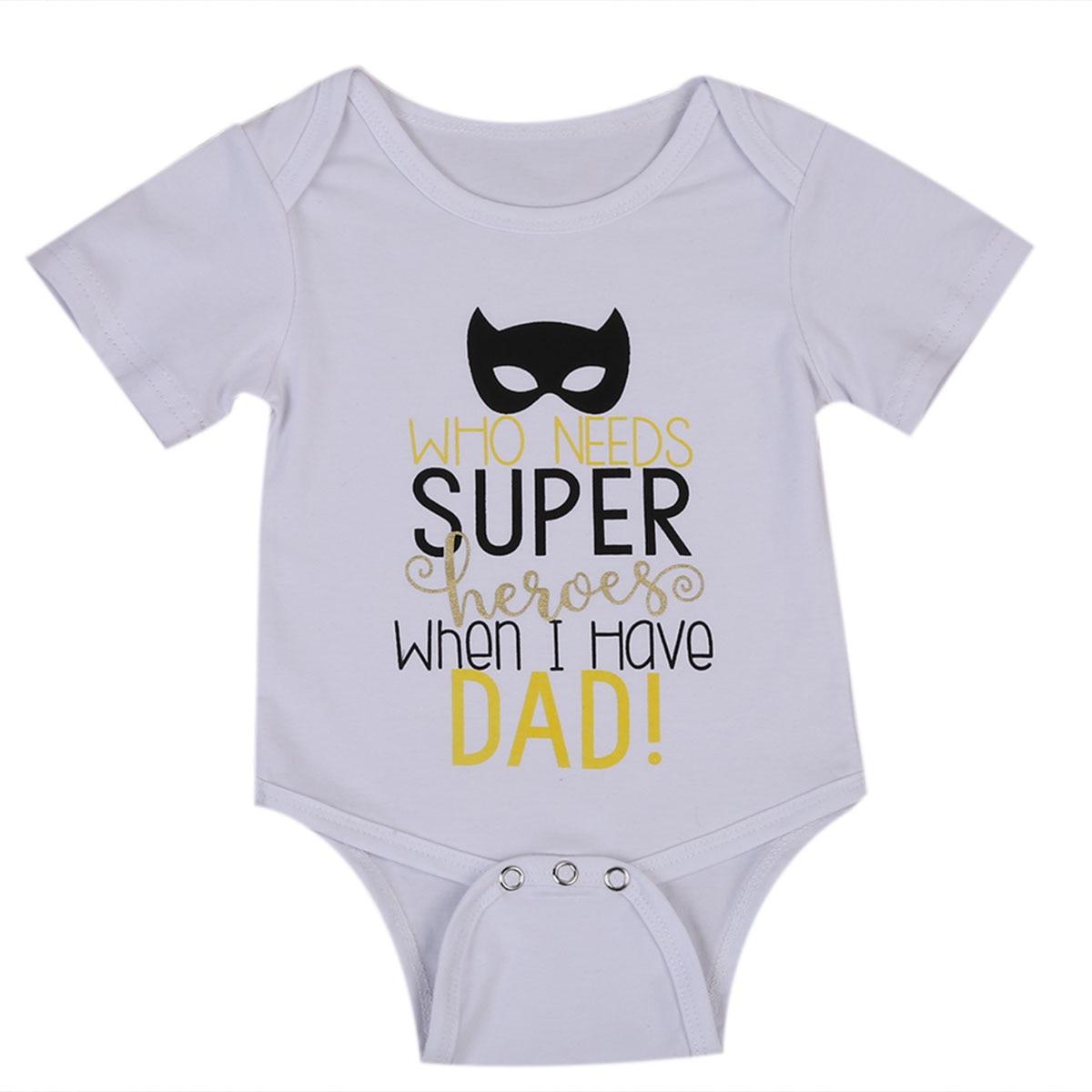 2017 Batman Heroes Newborn Kids Baby Boy Girl Letters Bodysuit Clothes Babies Cute Cotton Sunsuit Outfits 0-24M