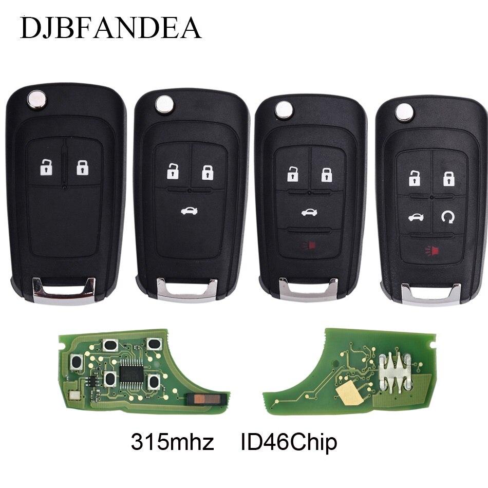 DJBFANDEA 315Mhz Flip Complete Remote Key For Chevrolet Aveo Cruze Orlando 2008 2009 2010 2011 2012 2013 2014 Control