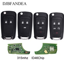 DJBFANDEA 315Mhz Flip Complete Remote Key For Chevrolet Aveo Cruze Orlando 2008 2009 2010 2011 2012 2013 2014 Remote Control Key mewant wine red leather black suede car steering wheel cover for chevrolet cruze 2009 2014 aveo 2011 2014 orlando 2010 2015