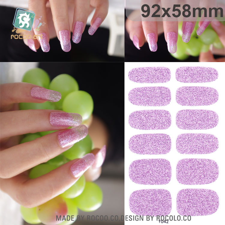 Rocooart Y5041-5060 Adhesive Nail Art Stickers Fashion Pink Nail Foil Sticker Fashion Manicure Glitter Decor Nail Wraps Decal триммер remington pg6130 черный