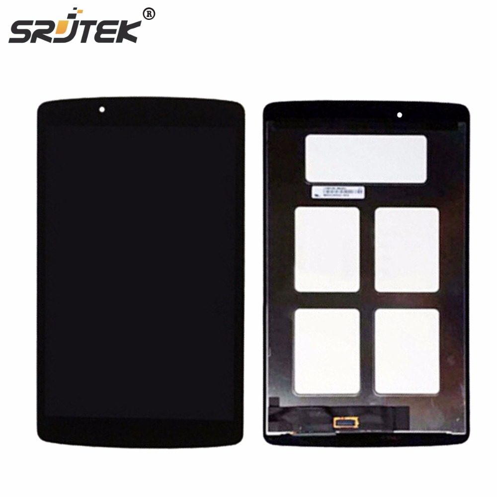 Srjtek For For LG G Pad 8.0 V480 V490 LCD Display Matrix Touch Screen Digitizer Panel Sensor Glass Tablet Assembly Replacement replacement touch screen digitizer glass for lg p970 black