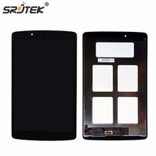 Srjtek For For LG G Pad 8.0 V480 V490 LCD Display Matrix Touch Screen Digitizer Panel Sensor Glass Tablet Assembly Replacement