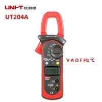 UNI-T UT204A UT203 Multimetr Cyfrowy Cęgowy Miernik Auto Zakres Z Volt Amp Miernik Tester Ohm Cap Herz