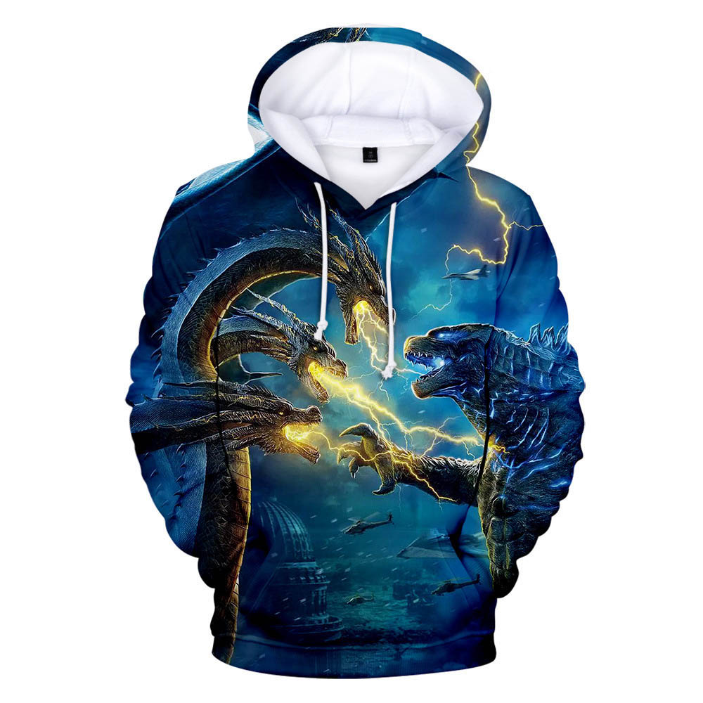Godzilla King of The Monsters Boy Hoodies Film Godzilla 2 Cosplay Cost