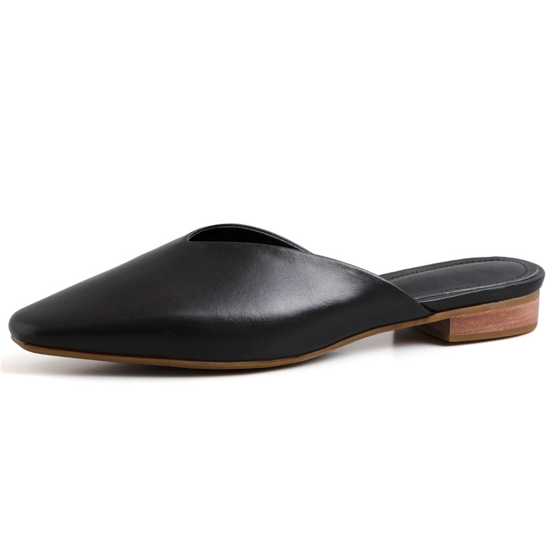 FEDONAS moda eleganckie damskie czółenka 2019 nowych prawdziwej skóry muły dorywczo podstawowe buty wiosna lato Party buty ślubne kobieta w Buty damskie na słupku od Buty na  Grupa 2