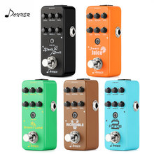 лучшая цена Donner Digital Mini Preamp Guitar Effect Pedal Circuit Preamplifier Built-in Reverb Cab Simulator Amp Sound Guitar Accessories
