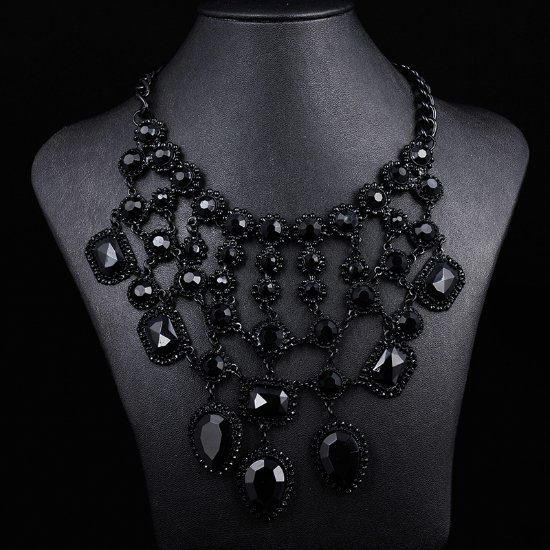 necklaces jewellery black ebay jewelry bhp bead necklace