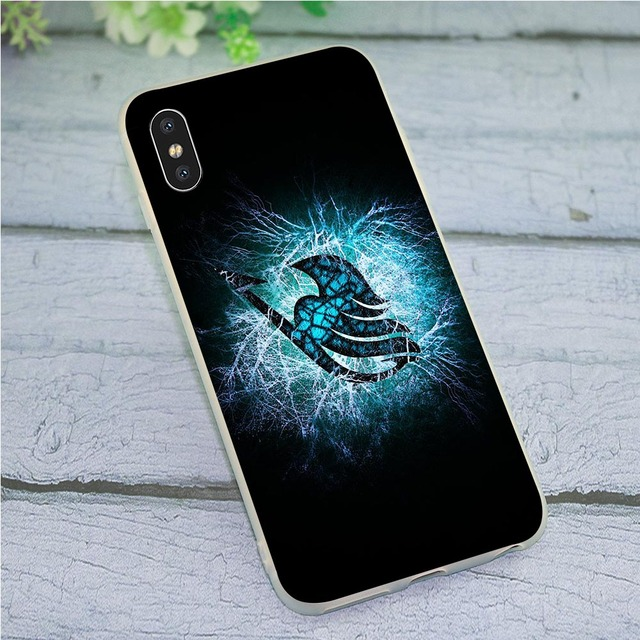 Fairy Tail Case for iPhone 7 Cover Xs Max XR X 8 Plus 6 6S 5S 6 SE