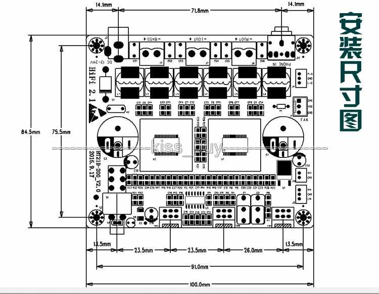 TPA3116D2 2.1 Ch Kelas D 100W + 50W + 50W HI FI Digital Subwoofer Amplifier Papan untuk DIY speaker Amp
