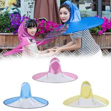 Transparent Umbrella Raincoat Outdoor Fishing Golf Child Adult Rain Coat Cover Transparent Umbrellas Size S M L(China)
