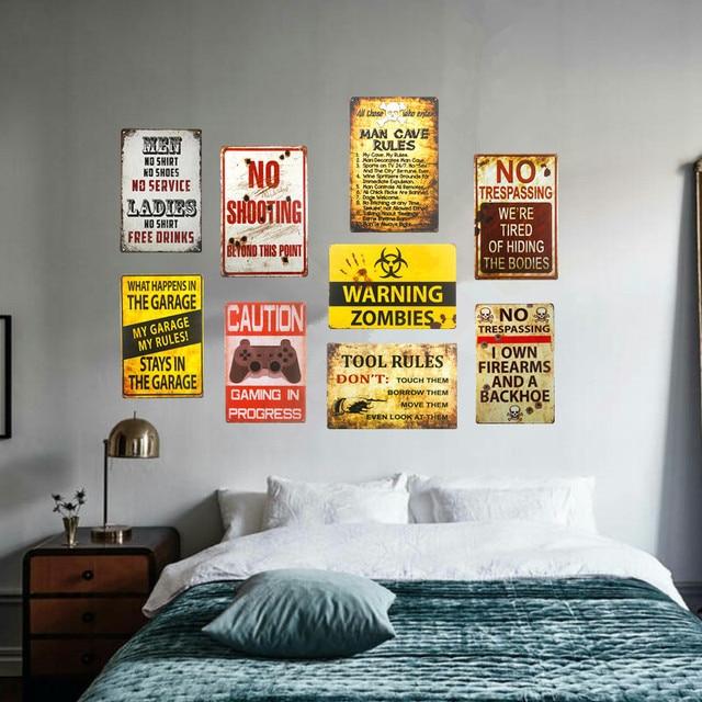 Dl camera da letto arte da parete in metallo poster retro pub casa craft arredamento vintage - Poster da parete per camera da letto ...