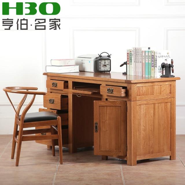 Escritorios madera top escritorio de madera de roble for Muebles de ordenador
