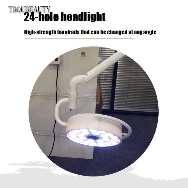 TDOUBEAUTY 72W Super Brightness Ceiling LED Surgical Exam Light Shadowless Lamp Pet Surgery Dental Department  (90V-240V) 800mm