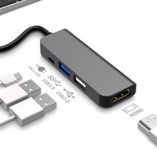 USB C רכזת סוג C כדי 4K HDMI רכזת USB 3.0 USB2.0 מתאם מיקרו USB טעינת נמל עבור MacBook פרו Samsung Galaxy S8 Huawei P20 פרו