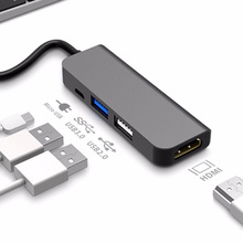 цена на USB C HUB Type C to 4K HDMI Hub USB 3.0 USB2.0 Adapter Micro USB Charging Port for MacBook Pro Samsung Galaxy S8 Huawei P20 Pro