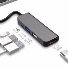 USB C tipo C a 4K HDMI HUB USB 3,0 USB2.0 adaptador Puerto de carga micro usb para MacBook Pro Samsung Galaxy S8 Huawei P20 Pro