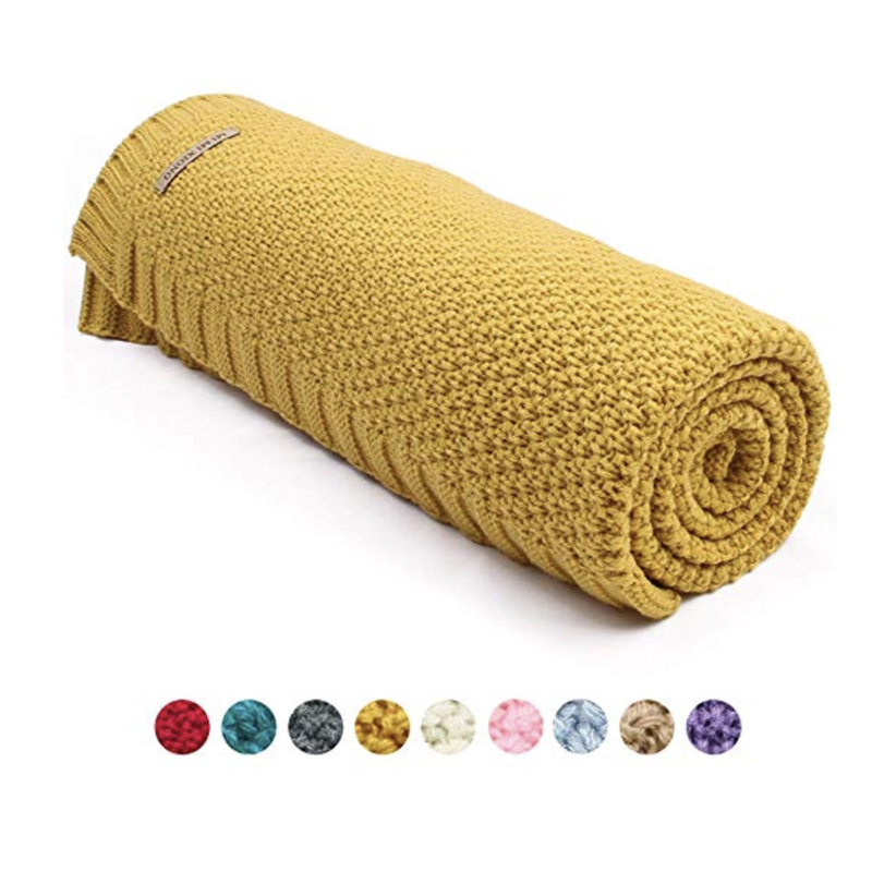 Baby Blanket Wrap Knitted Newborn Swaddle Up Solid Toddler Infant Basket Stroller Blankets Bedding Quilt For Boys Girl 40