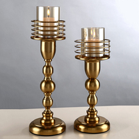 crystal Candle Holders stand For kitchen Glass home decoration candle stand candlesticks restaurant living room 50xx108