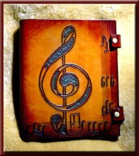 COMPOSERS EDGE MUSIC Songbook & Journal • A Beautifully Hand Crafted Leather with Staff Lined Paper for the Musician