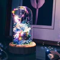 Rechargeable LED Night Light Beautiful Wireless Bluetooth Speaker With Flower Home Decoration Table Lamp last for 8 hours