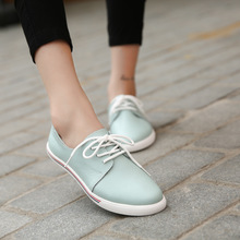 Women Flats oxfords Shoes Brand Women Casual Lace Up Leather Women Shoes 2016 Fashion Female White Shoes Ladies Flat Shoes F3168