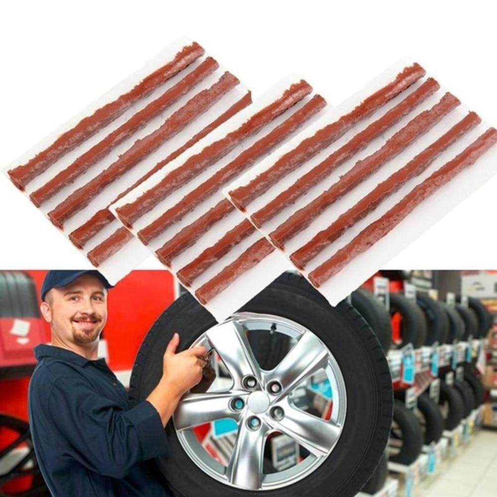 Image 2 - 25Pcs Vulcanized Rubber Car Motorcycle Bike Tubeless Tire Wheel Puncture Repair Rubber Seal Strip