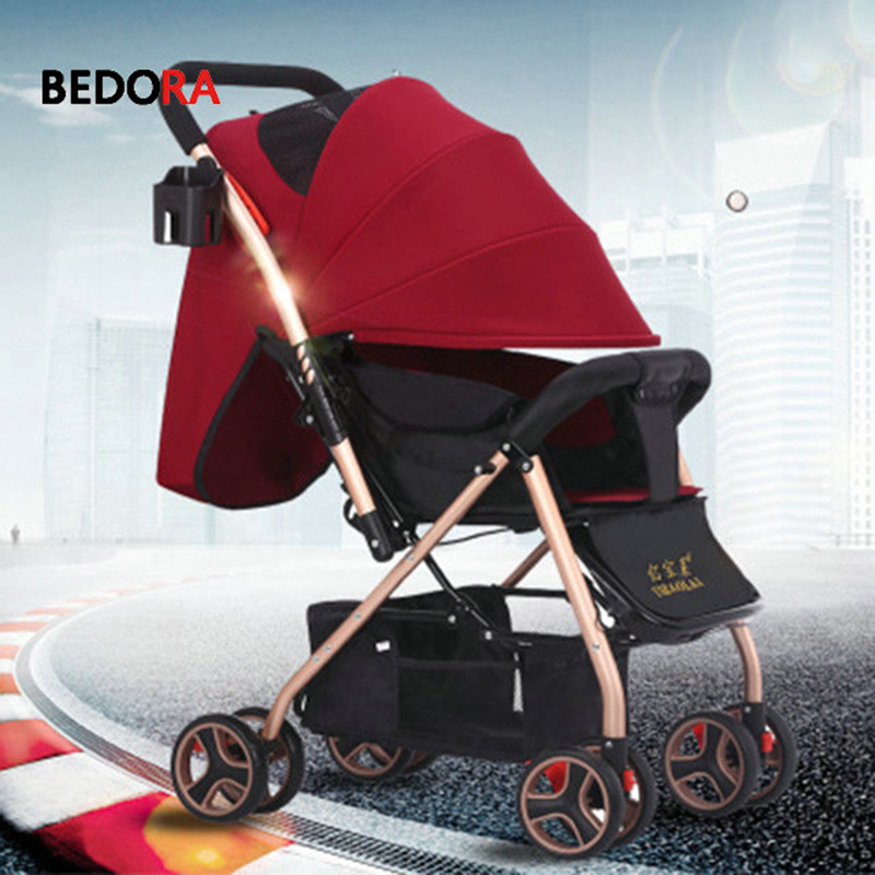 цена Baby Stroller Plane Lightweight Portable Travelling Pram Children Pushchair Summer and winter trolley Folding umbrella