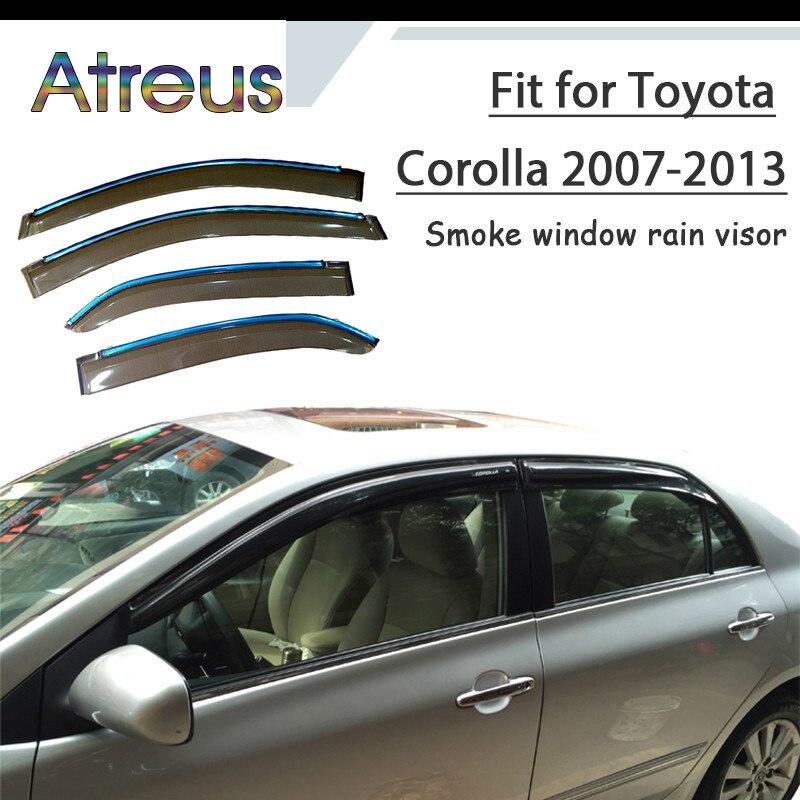 4Pc set  WINDOW VISOR VENT Window Air Deflector FOR TOYOTA COROLLA 2003-2008