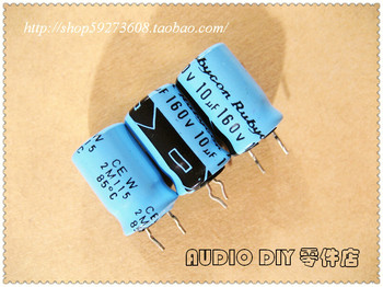 2020 hot sale 30PCS/50PCS Rubycon old sky blue TWSS (CEW) series 10uF/160V electrolytic capacitors free shipping image