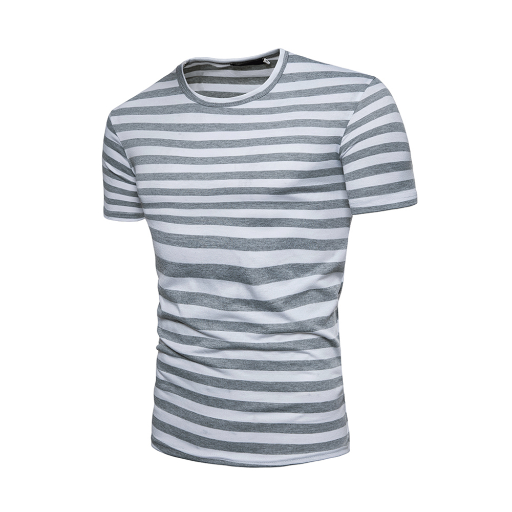 HipHop Short Sleeve T shirt Streetwear Men T Shirt Summer Tops Tees Stripe T Shirts Mens O Neck Tshirt Fashion tee shirt homme in T Shirts from Men 39 s Clothing