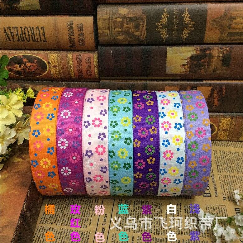 2.5 см нить ленты печати цвет солнца цветок лук упаковка подарочная коробка с свадебное Hi