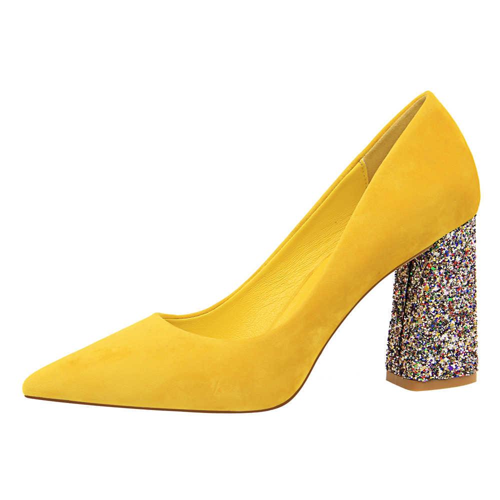 bf28f9a993f3  D Henlu  2019 Bling Women Heels Bling Heel Women High Heels Shoes Ladies  Pointed Toe