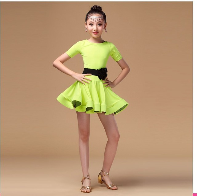 Girl Kids Satandard Latin Competition Dress Children Modern Dance Ballroom Salsa Rumba Tango Samba Cha Cha Costumes
