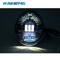 for Harley light V ROD VRSC/V ROD LED Headlight With Daytime Running Light Vrod Motorcycle Head shead light Oval