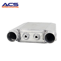 AUTOREFITTING Universal Size 255x220x115mm Aluminum Bar And Plate Turbo Front Mount Water To Air Intercooler For BMW Radiator