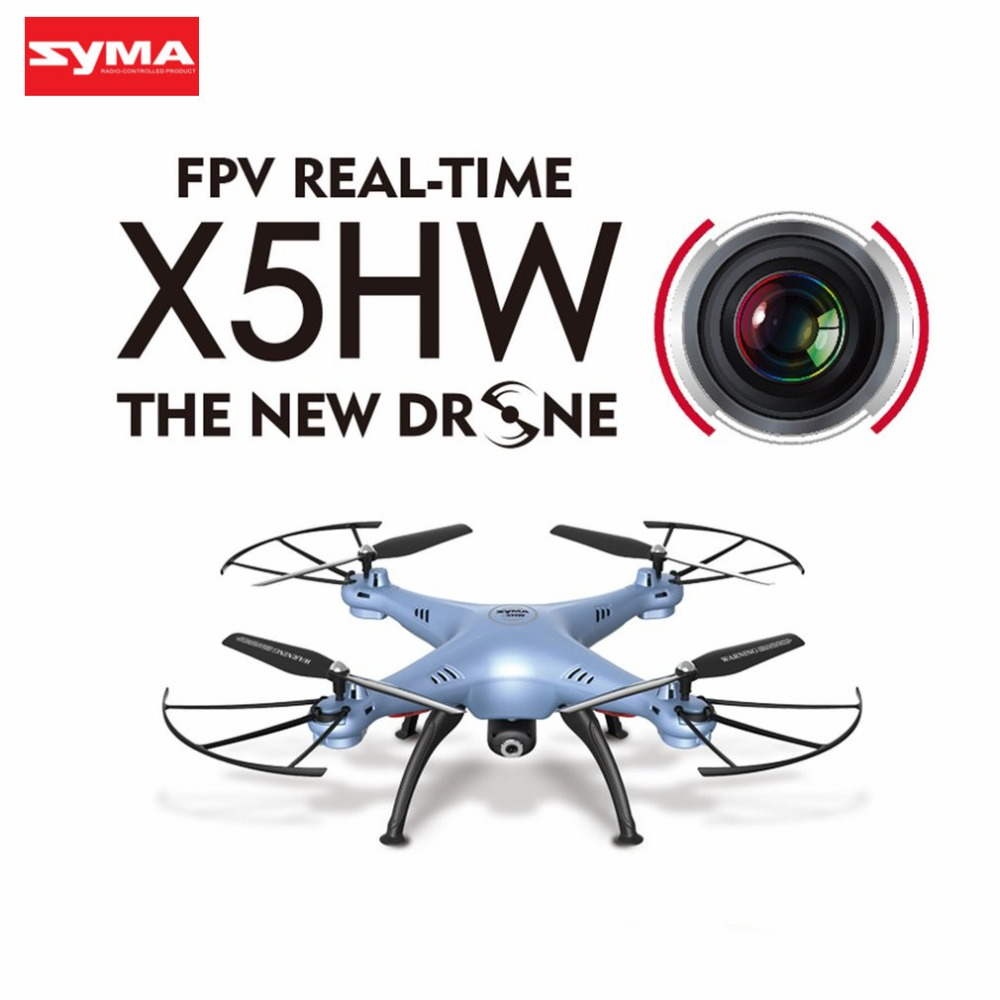 SYMA X5HW Drone With Camera HD Wifi FPV Selfie Drones Drone Quadrocopter RC Helicopter Quadcopter RC Dron Toy (X5SW Upgrade) hi syma x8c rc helicopter mini drone with camera selfie hd fpv quadcopter 4 channel aerial remote control aircraft uav drones toy