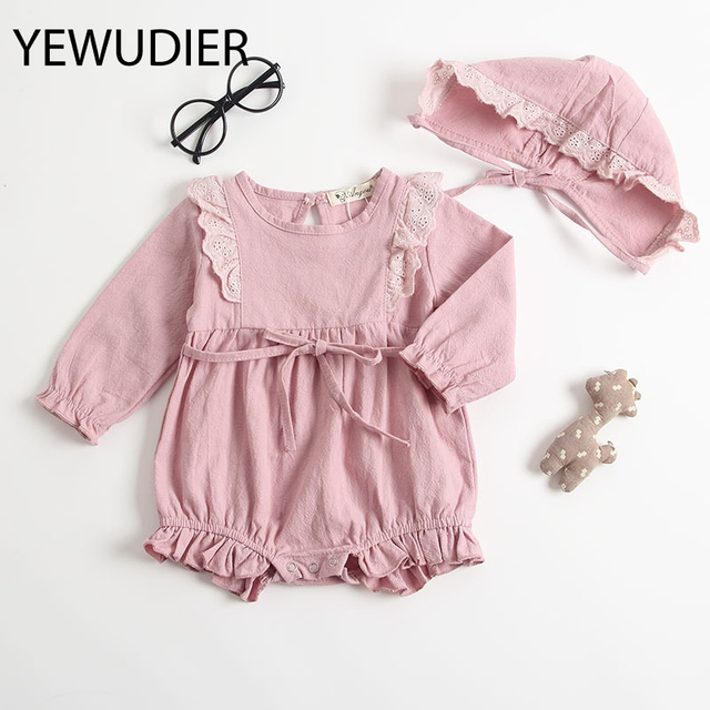 8af118714e5 YEWUDIER 2018 New Bodysuit Baby Clothes Autumn   Winter Baby Girl Clothes  pink Lovely Jumpsuits Cute Girls Kids Child Jumpsuits