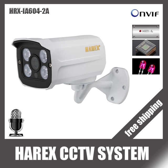 HI3516C + Sony IMX323/OV2710 HD 1080 P Audio avec microphone tableau led extérieur Vision nocturne Plug and Play Bullet IP ONVIF caméra