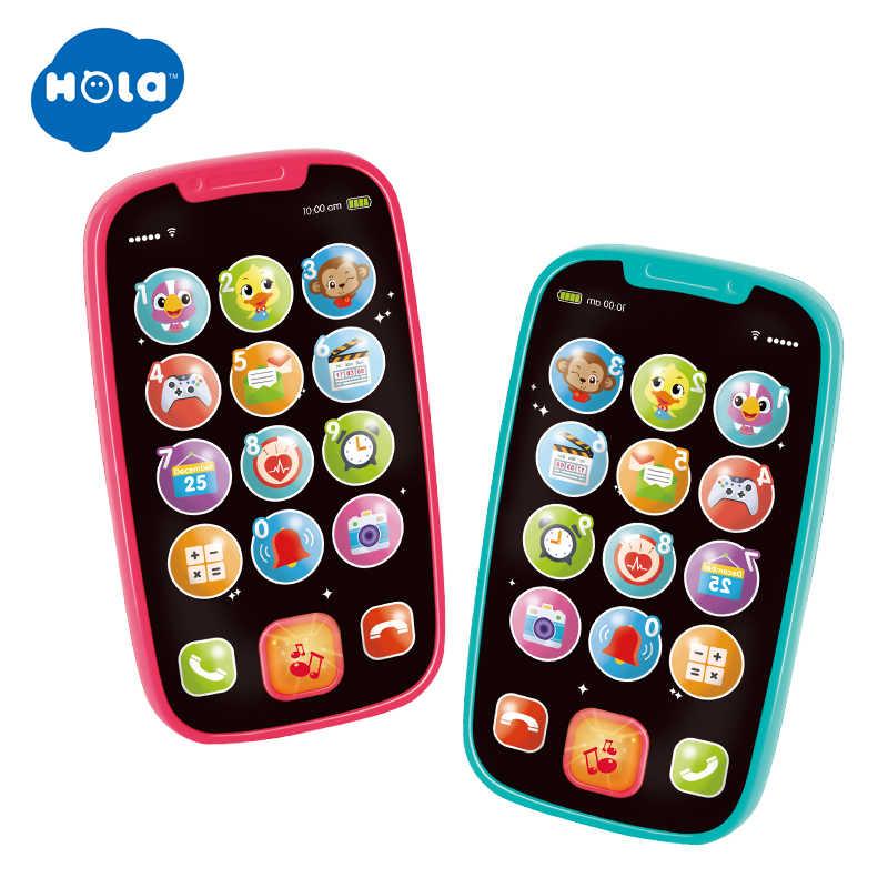 HOLA 3127 детская игрушка, учеба, музыкальный звук, сотовый телефон, песенки, животные, звук, забавная игрушка, мобильный телефон, Детская обучающая игрушка